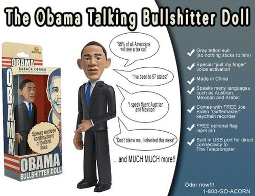 Obama BS doll modified