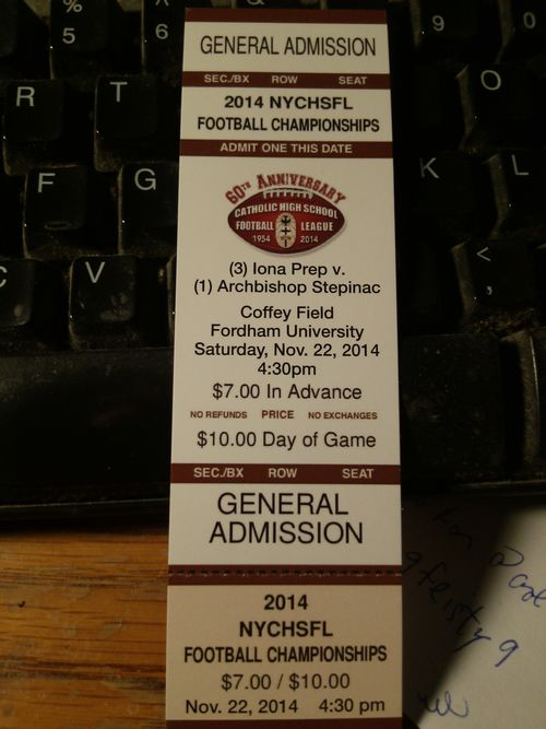 Tim championship ticket 11-21-2014