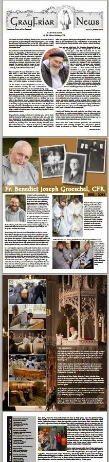 Groeschel newsletter circular