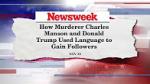 Trump manson comparison