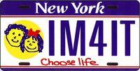 Chooselife license plate