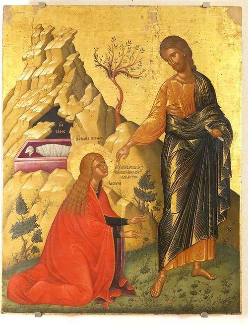 Mary magdelene sees risen Jesus