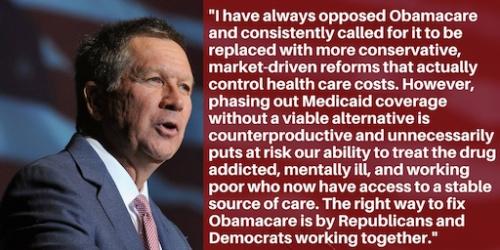 Kasich Obamacare-Statement