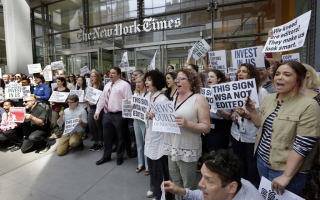 NY Times protest 6292017