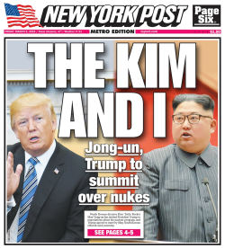 NYPOst trump and Km summit