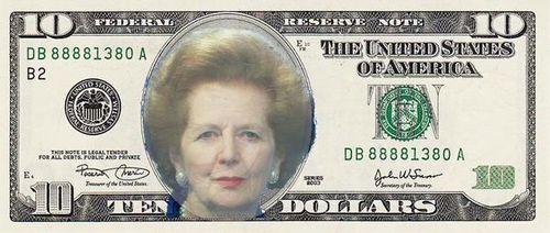 Thatcher ten dollar bill