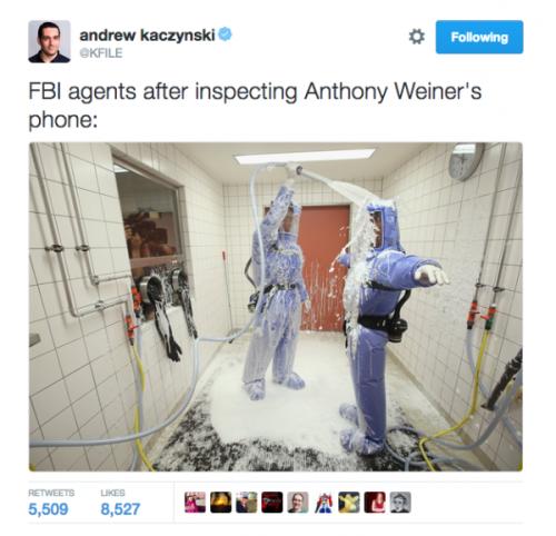 FBI weiner phone