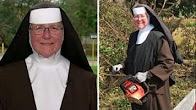 Nun with chainsaw