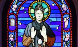 Josephine bakhita stained glass