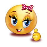 Emoji happy female