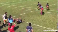 Women rugby hit