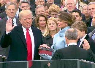Trump sign in