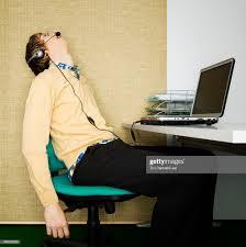 Man sleeping at his desk 4