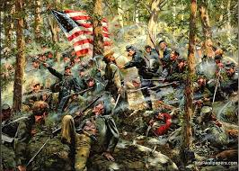Civil war painting