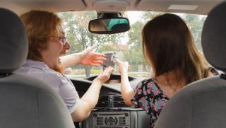 Spouse controls car