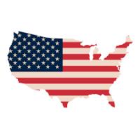 USA flag and country print