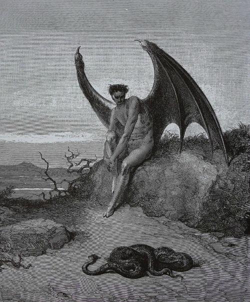 Satan and snake