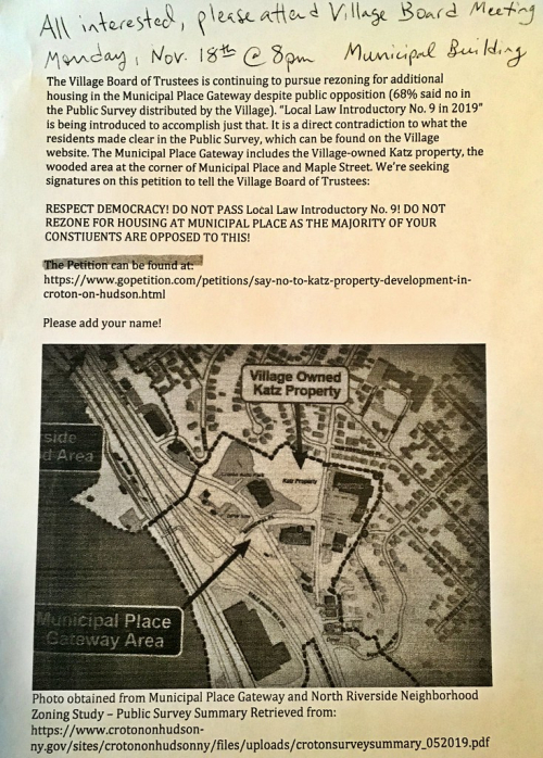 Croton rezoning flyer