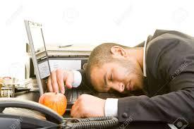 Man sleeping at desk 1