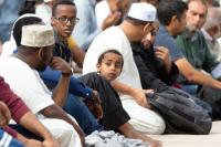 Muslim men in mercator