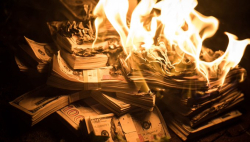 Burning money better then donating to politician