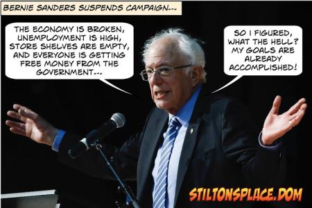 Sanders quitting reason