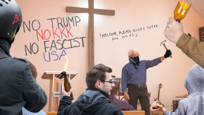 Churchgoers rioters