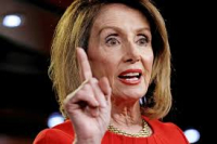 Pelosi finger in air