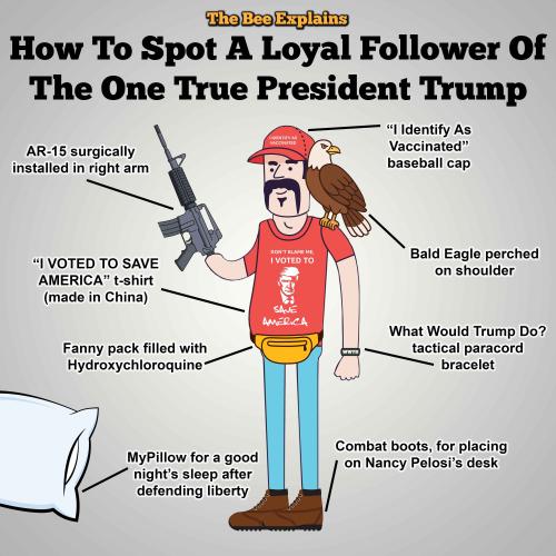 Trump true follower larger