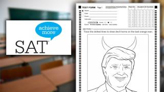 Trump devil horns