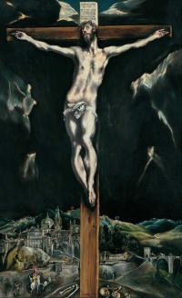 Christ cruified el greco