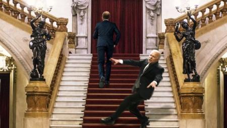 Biden stair climbing contest