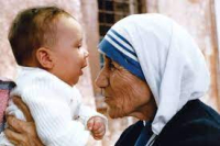 Mother teresa and baby
